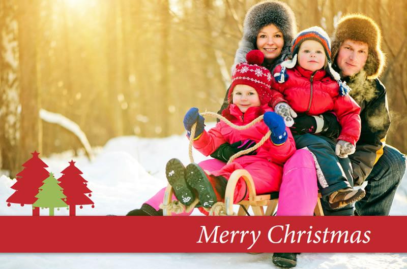 postales de navidad en rojo y blanco - Postales Navideas Personalizadas