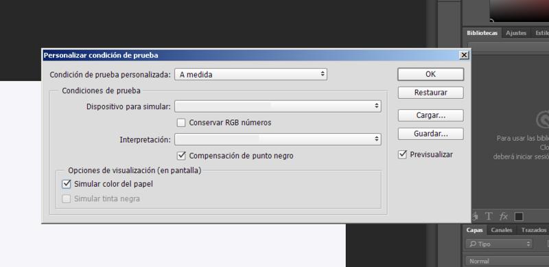 Configurar perfil ICC en Photoshop